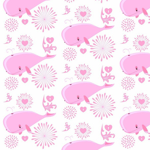 BABY PINK WHALES