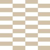 white tan checkerboard stripes