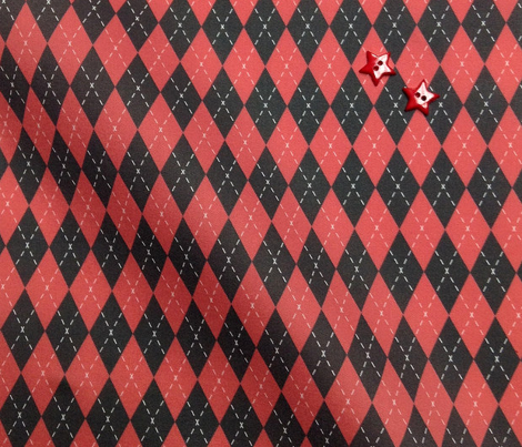 Argyle Black&Red/White