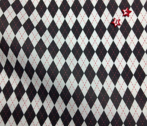 Argyle Black& White/Red