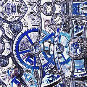 Steampunk Blue Corset