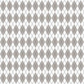 Argyle Taupe&White/Black