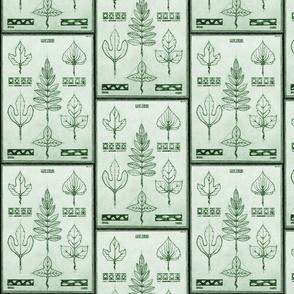 vintage tree sketches