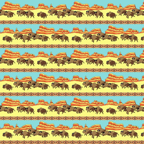 Southwestern Buffalo Stripe Small Scale