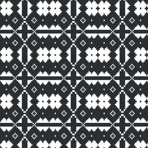 Charcoal_White_Aztec