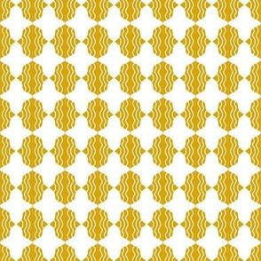 Beads Gold White Wavy