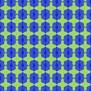 Beads Blue Olive Wavy