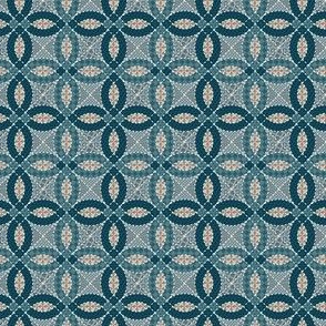 Teal cheater quilt