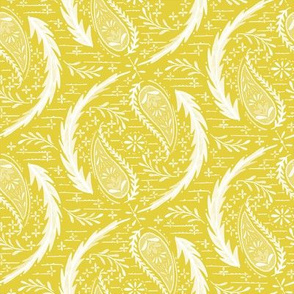 Watercolor Paisley - Citron
