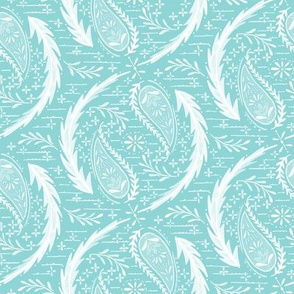 Watercolor Paisley - Turquoise