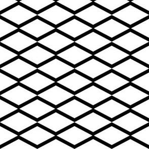 black fishnet on white
