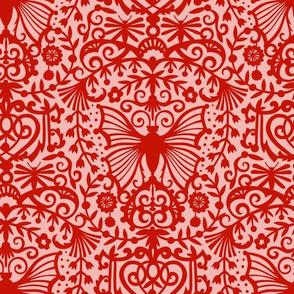 Edwardian Scrolls - Red