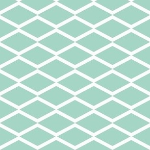 white fishnet on mint