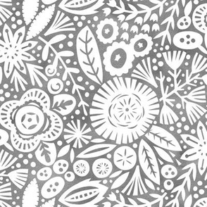Folk Art Floral - Dove