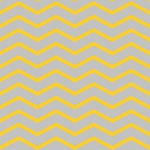 yellow chevron on grey