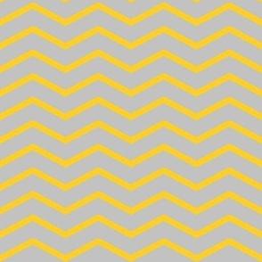 yellow chevron on grey