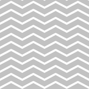 white chevron on grey