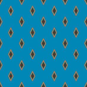 Echo Canyon Polka Diamonds on Turquoise Blue