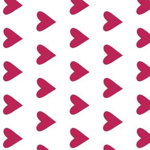dark pink heart - pomegranate