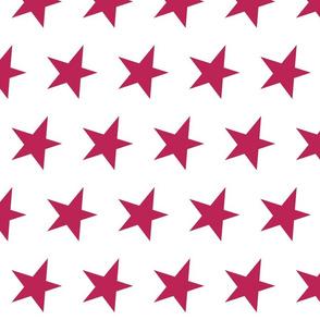 dark pink star - pomegranate