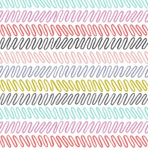 wiggly stripes - horizontal