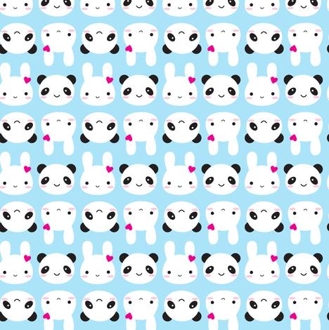 Super Cute Kawaii Bunny and Panda