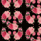Classic Roses in Black