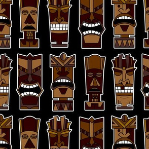 Tiki Party - Brown and Black