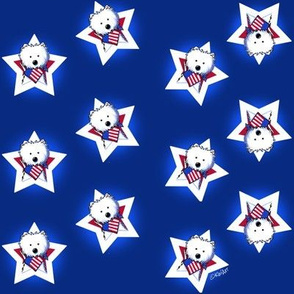 Westie Stars & Stripes Navy