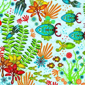 Spoonflower Spoonfish Blue