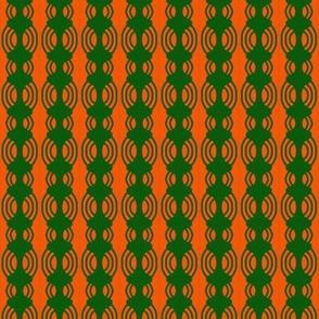 Barbell Beads Green Orange 2