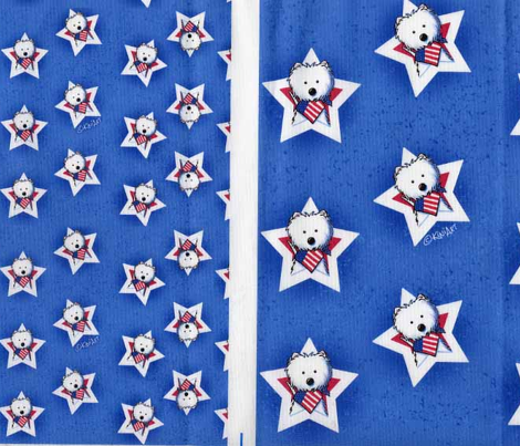 USA Star Speckled Westies (Small)