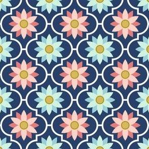 trendy flower tiles