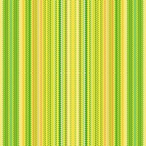 Narrow Yellow and Green Zigzag Stripe