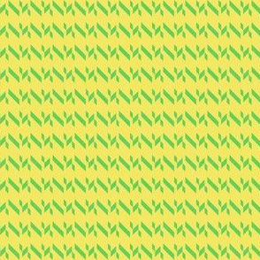 Yellow Green Chevron Stripe
