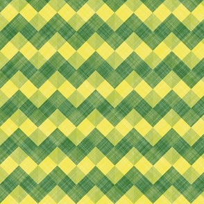 Daffodil Colors Zigzag Horizontal Stripe