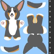 Kawaii Corgi mini plushie - tricolor
