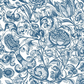 Ophelia's Posy ~ Lonely Angel Blue and White