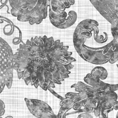 Ophelia's Posy ~ Silvered Linen Luxe