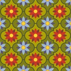 autumn flower tiles