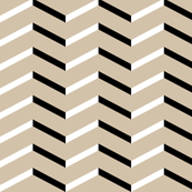 white black chevron on tan
