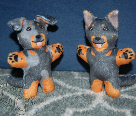 Kawaii Beauceron mini plushie - black and rust