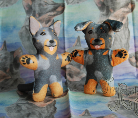 Kawaii Beauceron mini plushie - harlequin