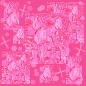 Pink Tulip Montage