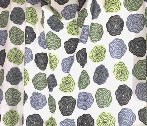 Block Print Blossoms in Hydrangea