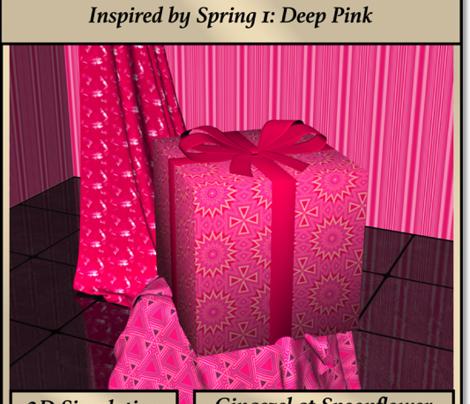 Pink and Gold Kaleidoscope