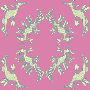 sea dragon brocade in pink
