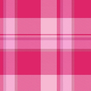 Bright Pink Tartan Plaid