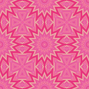 Pink and Gold Kaleidoscope 2
