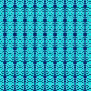 Barbell Beads Echoes Aqua Blue